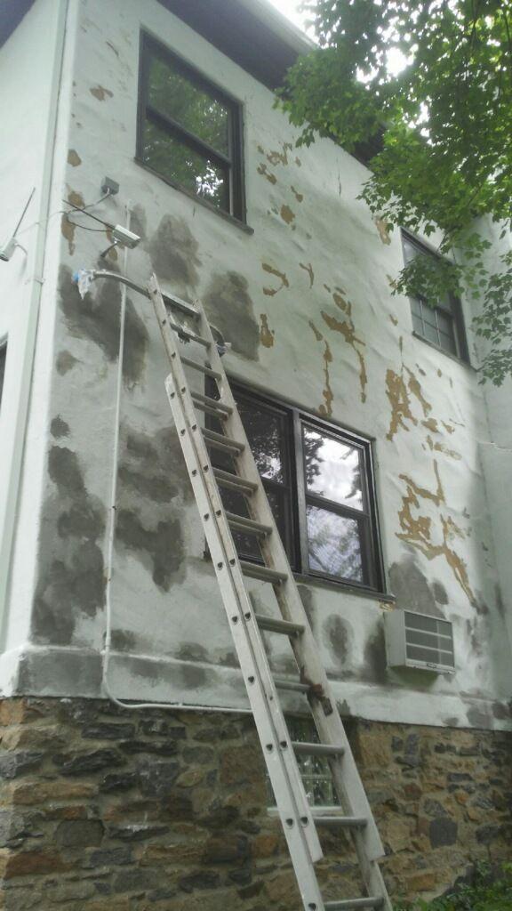 Exterior paint stucco
