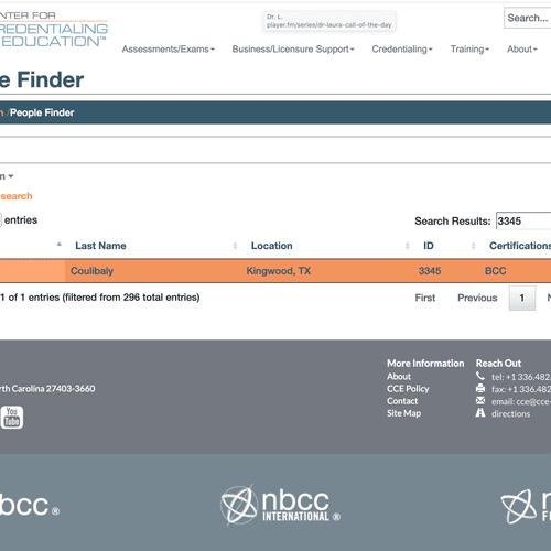Board Certification Verification Search