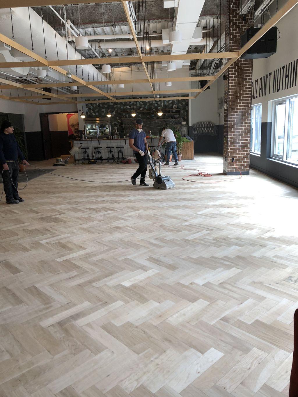 Wood flooring restoration
