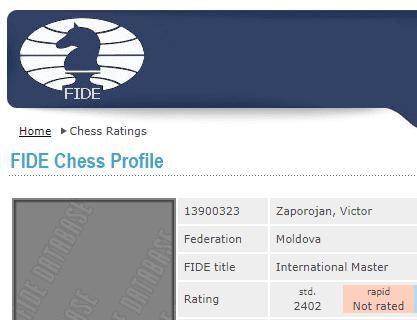 International Chess Master. FIDE ELO 2402