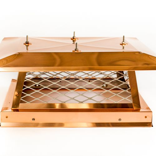 We sell and install Copper Chimney Caps