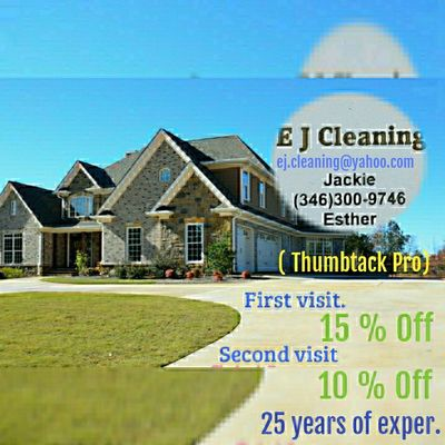 "Avatar for Professional cleaning "" EJ CLEANING "" Houston, TX Thumbtack"