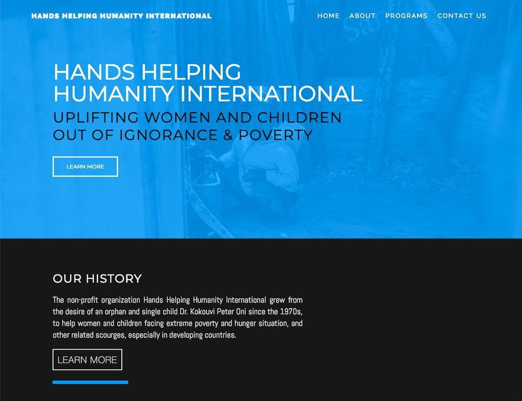 Non-Profit Organization - Website