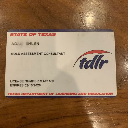 Licensed with the state of Texas