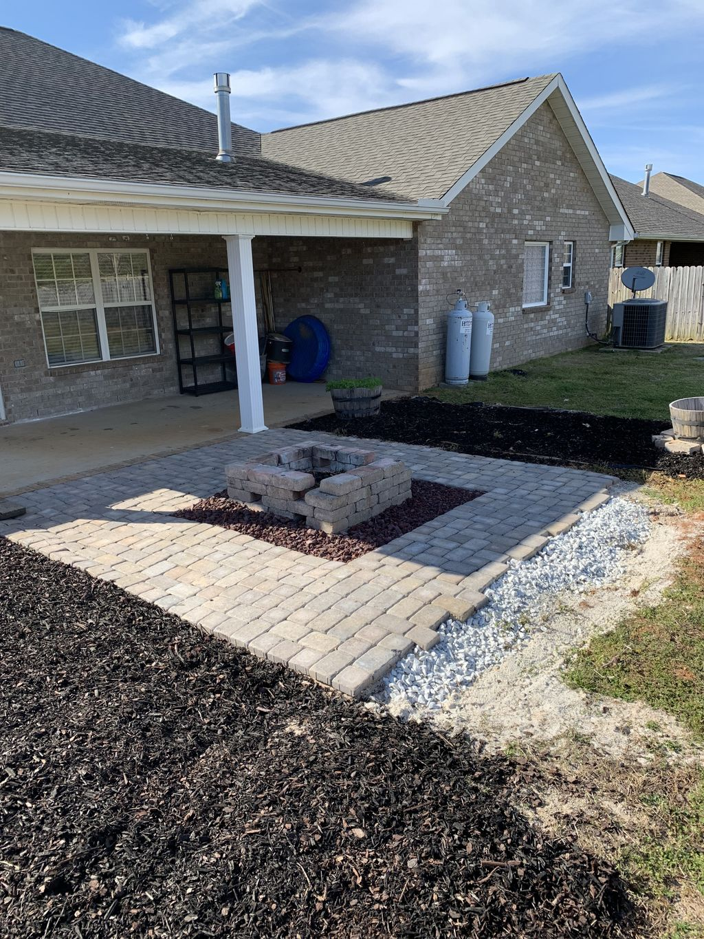 Lawn care, Firepit install