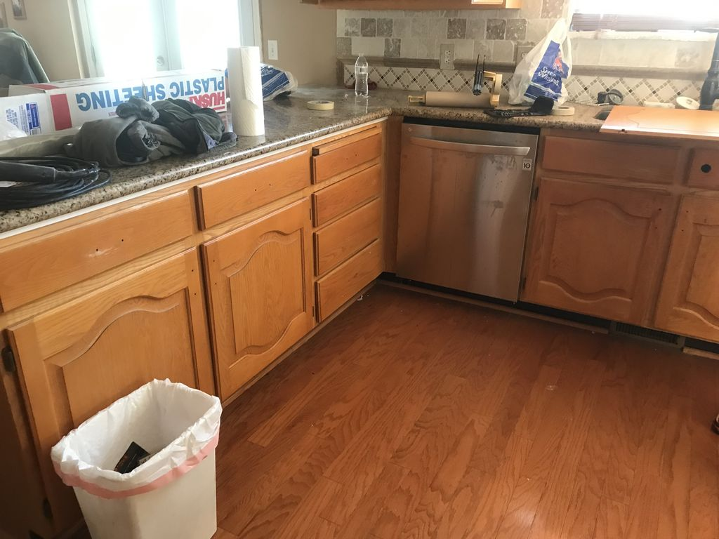 Mr Ford surprised his wife with new cabinets