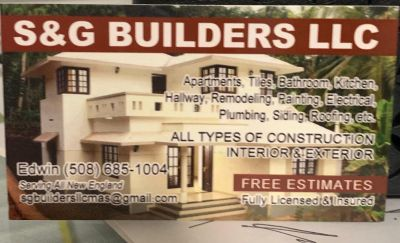 Avatar for S&G BUILDERS LLC Worcester, MA Thumbtack