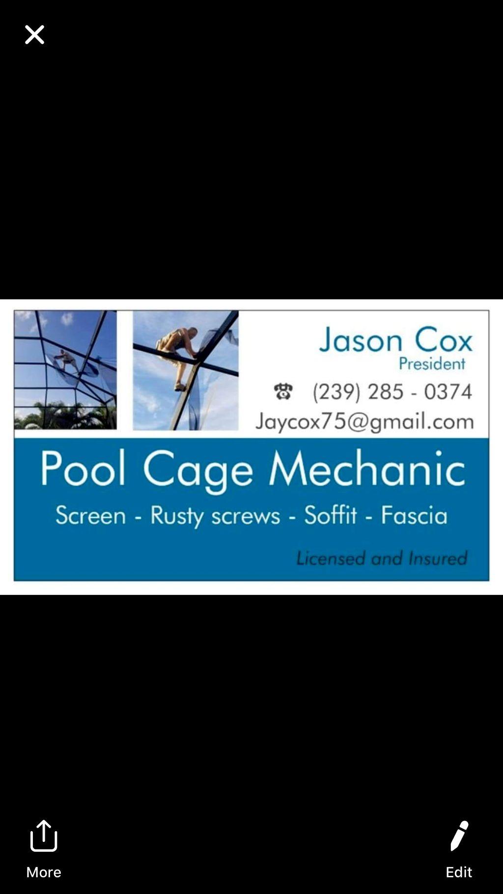 Pool cage mechanic