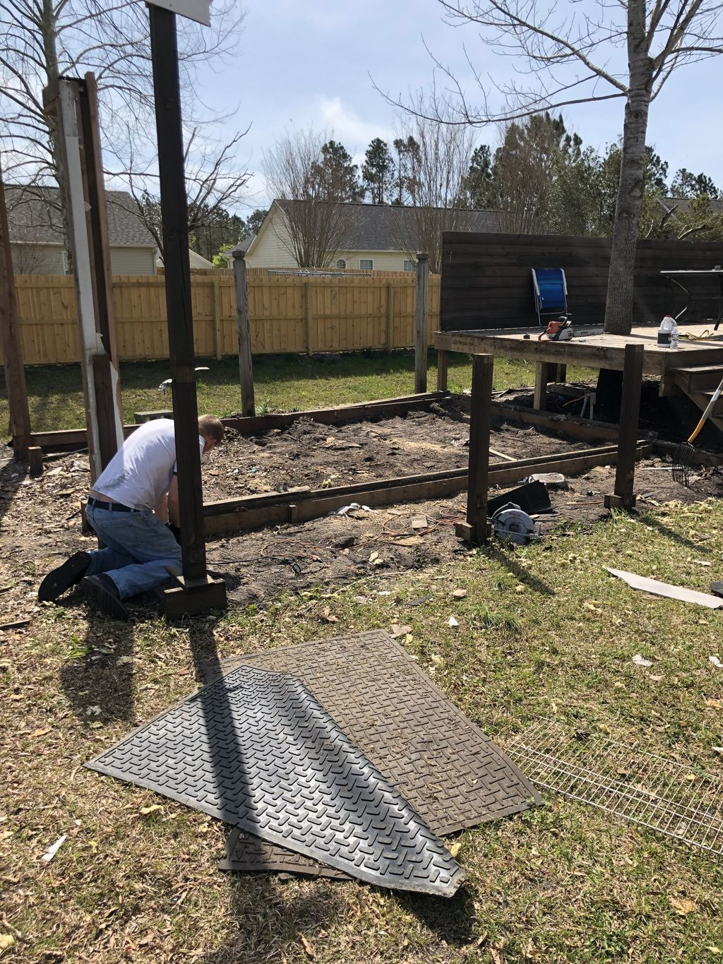 Removing Shed for New Shed