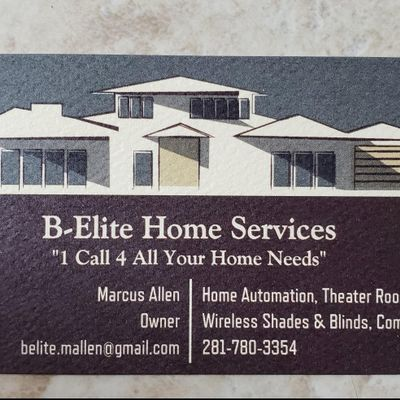 Avatar for B-Elite Home Services