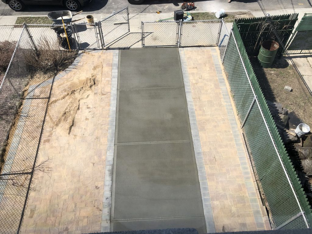 Concrete and Paver driveway installation