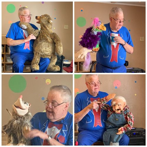 Here are just a few of my puppet Characters!