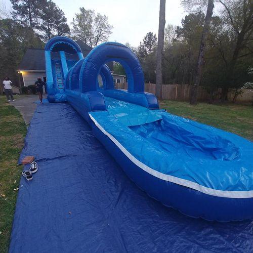 20 ft water slide/ slip  4 hrs) 380