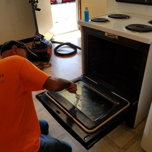 Mid oven cleaning!