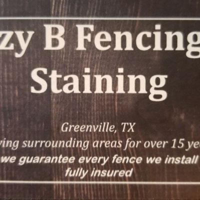 Avatar for Lazy B Fencing & Staining Greenville, TX Thumbtack