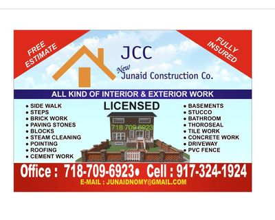 Avatar for Junaid Construction Co. Woodhaven, NY Thumbtack