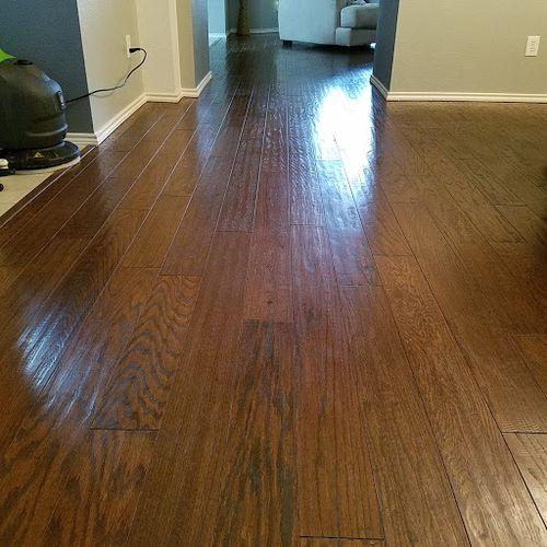 post wood floor polishing