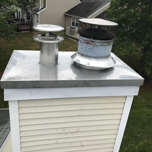 Chimney Stainless Steel Chase Cover