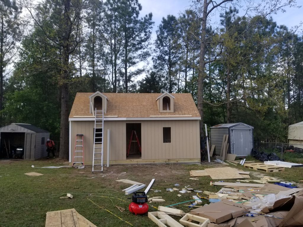 24x12 shed framing and concrete floor