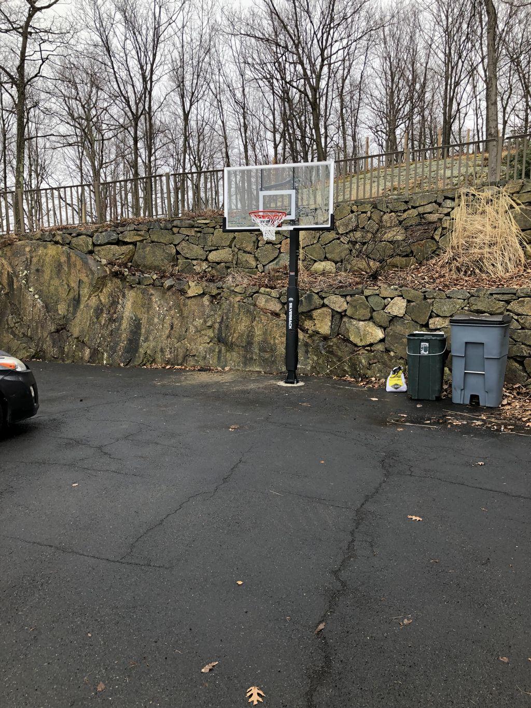 In-ground Basketball hoop