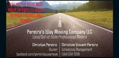 Avatar for Pereiras Way Moving Company LLC New Orleans, LA Thumbtack