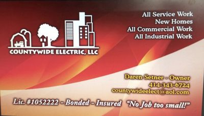 Avatar for CountyWide Electric Muskego, WI Thumbtack