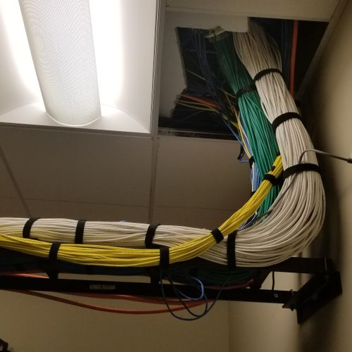 Added the 20 yellow cables to existing site