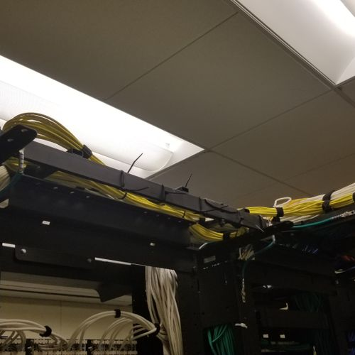 Added yellow cables to existing site