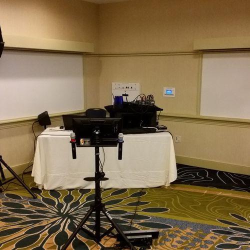Typical hotel party KJ setup