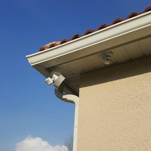 Surveillance camera with added Motion light.