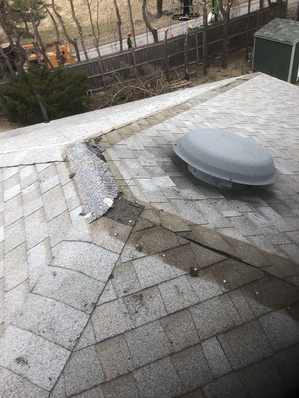 Fix blown off shingles