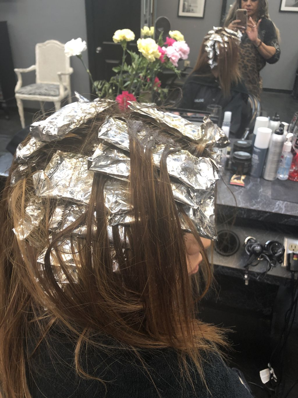 Highlights, updos and hair extensions