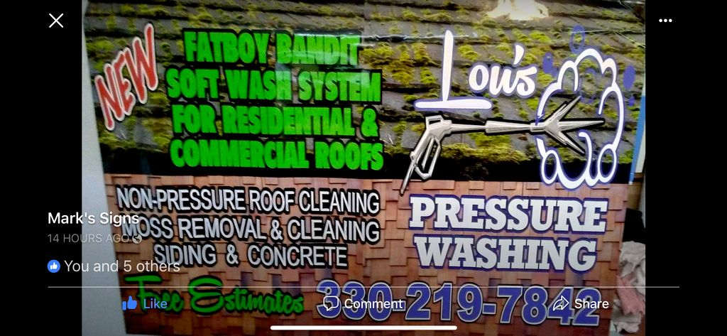 Lou's Pressure Washing & Roof Cleaning