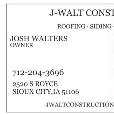 Avatar for J. Walt Construction, LLC Sioux City, IA Thumbtack