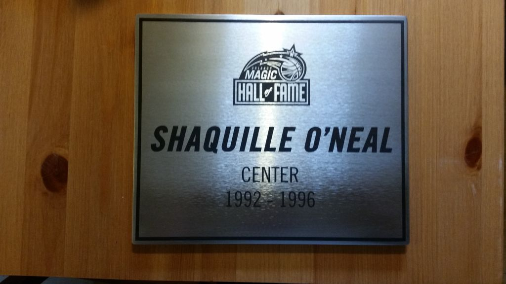 Shaquille O'neal Hall of Fame Plaque