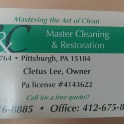 Avatar for C&C Master Cleaning & Restoration
