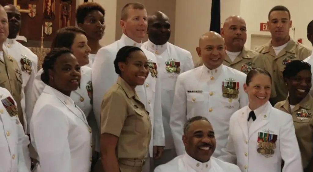 Navy Retirement ceremony