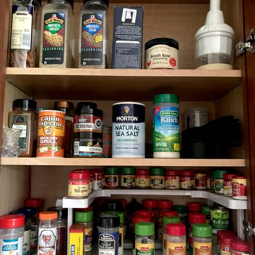 A home for everything, even the spices!