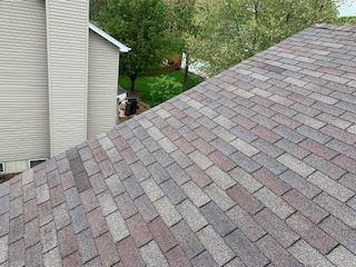 Repair for minor wind damage. Customer was concerned with matching. Repair blends in very well and only cost $345.