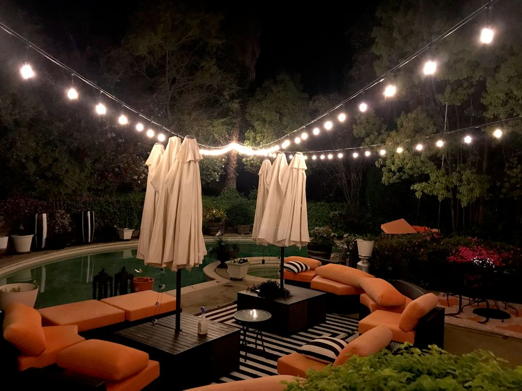 Permanent Bistro lighting installation