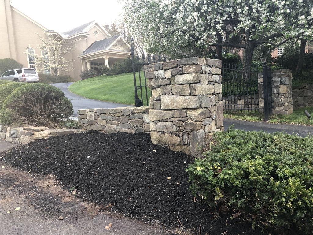 Estate home landscaping