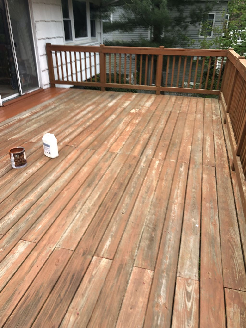 Power wash and restain