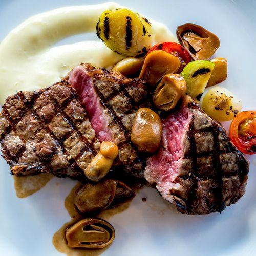 Plated Steak Dinner