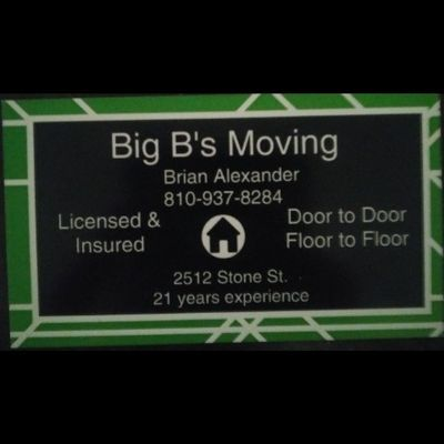 Avatar for Big B's Moving Port Huron, MI Thumbtack