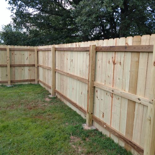 6 ft. Privacy fence