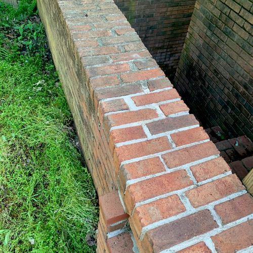 This brick had a lot of buildup but cleaned up nicely!