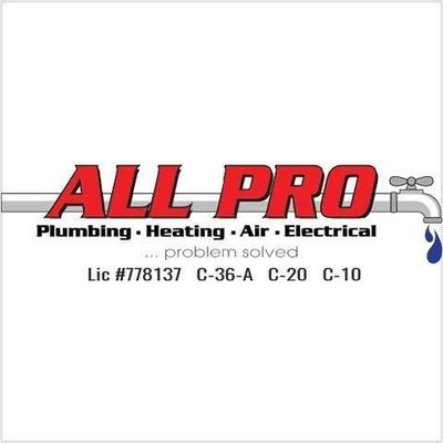 Avatar for All Pro Plumbing, Heating, Air & Electrical