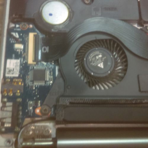 Laptop with Defective Fan Replacement Project