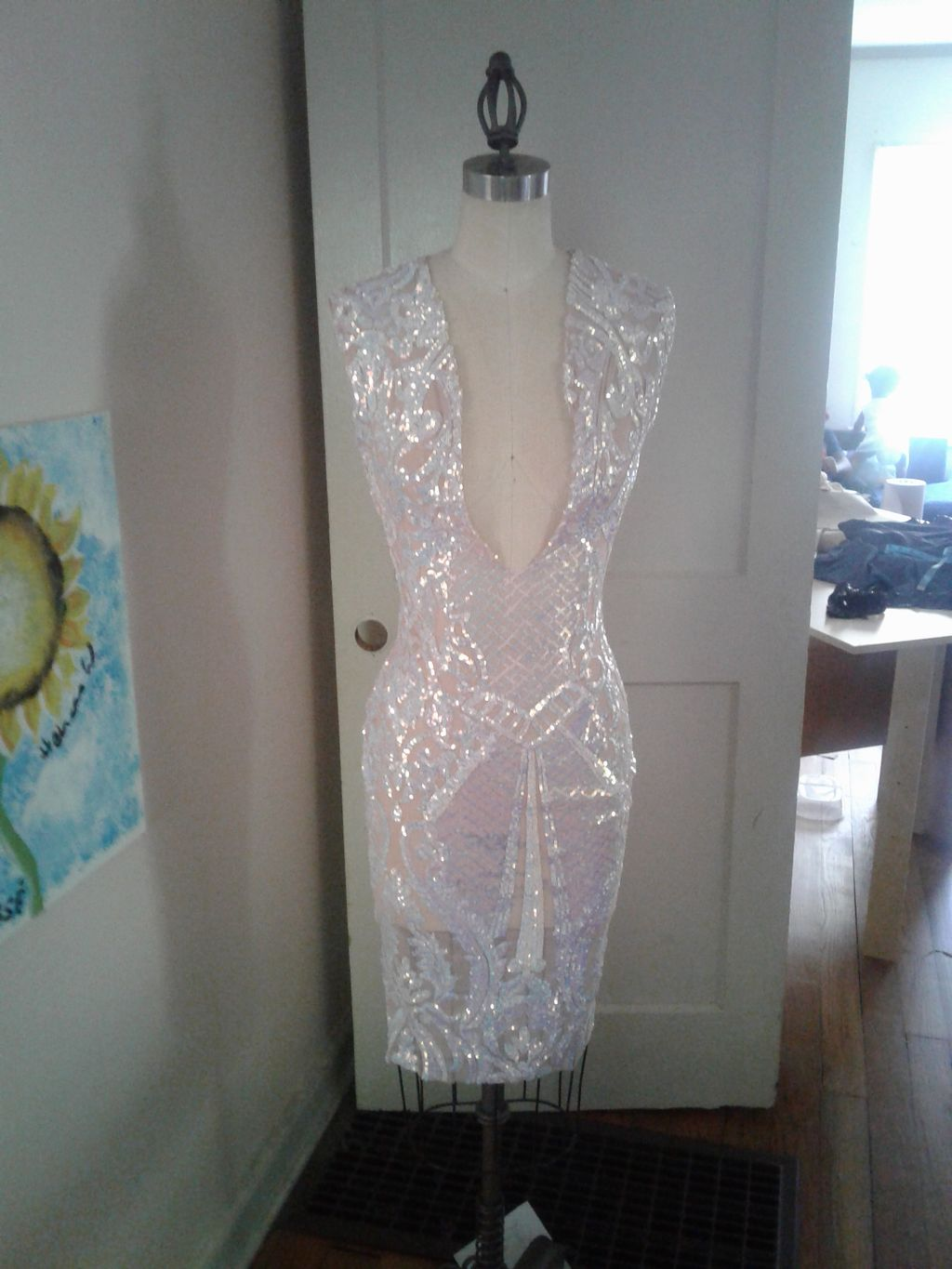 Custom sequin dress