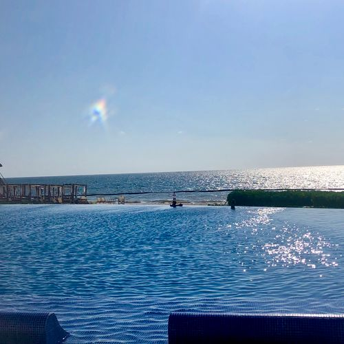 Dreams Riviera Cancun has amazing views and it's a family friendly resort with an All Luxury Feeling